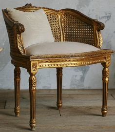 French antique furniture with gold leaf gilding on edges to ...