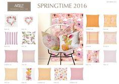 Für das Frühjahr 2016 haben wir eine Auswahl an Kissen und Tischwäsche in zarten Rosa- und Apricotfarben. Blumenmotive dürfen natürlich nicht fehlen und dazu gibt es die passenden Unis. #pillows #tablelinen #apelt