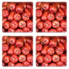 MSD Natural Rubber Square Coasters IMAGE ID 35000899 Rose apples on asian vegetables market background >>> Check this awesome product by going to the link at the image.(It is Amazon affiliate link) #AsianFoods