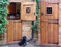 Maybe mnot this style, but I do love Dutch doors. Let in the fall and spring breezes while keeping babies and puppies inside! And well they're kind of whimsical don't you think?