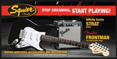 The Fender Squier Affinity Strat – An Electric Guitar Package You Can't Afford to Pass Up!