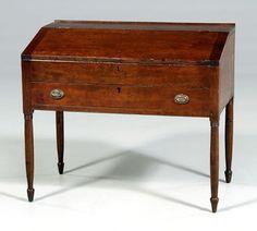 Brunk Auctions - Kentucky cherry sugar desk,