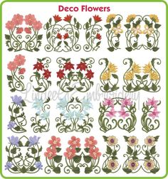 Deco Flowers (filled)