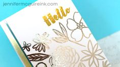Foil Stamping Video by Jennifer McGuire Ink
