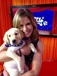 TODAY - Natalie Morales with the new Today Show puppy from Guiding Eyes for the Blind. He's so precious!!