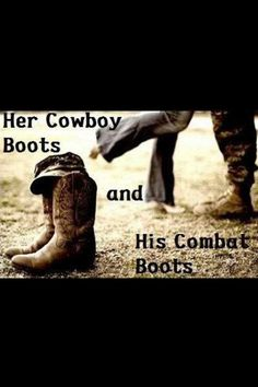 My cowboy boots-your combat boots :)