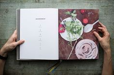 Photography, art direction and graphic design of our first own cookbook Page Layout Design, Menu Design, Design Art, Print Design, Food Design, Restaurant Menu Card, Placemat Design, Cookbook Design, Brand Book