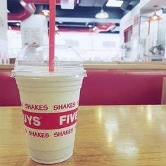 Spending my Saturday with a milkshake
