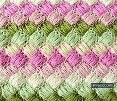 Crochet Box Puff Stitch Tutorial - (mypicot)