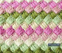 Crochet Box Puff Stitch Tutorial - (mypicot)