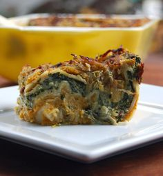 pumpkin and spinach lasagna -  won't take forever to make. This is a vegan recipe perfect for thanksgiving.