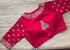 20 Stylish and Trendy Saree Blouse Back Neck Designs - FashionShala Pattu Saree Blouse Designs, Designer Blouse Patterns, Bridal Blouse Designs, Saree Blouse Neck Designs, Dress Designs, Hand Work Blouse Design, Simple Blouse Designs, Stylish Blouse Design, Simple Designs