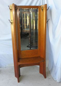 Lovely Oak Hall Tree with Mirror