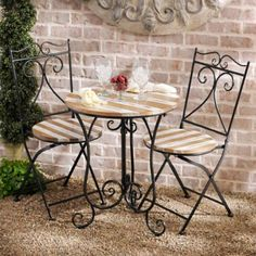 Looking for new patio sets? Shop Kirkland's online selection of outdoor bistro sets and see what the right patio set can do for your outdoor space. Outdoor Furniture Sets, Decor, Patio Furniture, Small Table And Chairs, Fire Pit Furniture, Bistro Set, Outdoor Patio Decor, Outdoor Furniture, Patio Dining Set