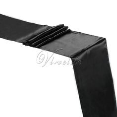 """5PCS Black Satin Table Runners 12"""" x 108'' Wedding Party Banquet Home Hotel Table Decorations 30cm x 275cm Sale Only For US $9.34 on the link"""