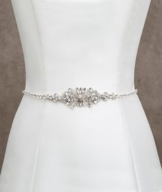 Pronovias Style 463 belt- this might be nice, I wonder how it would interact with a veil
