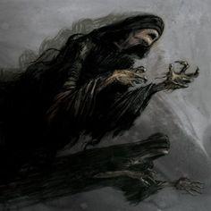 Dementors by Jim Kay Harry Potter Jim Kay, Harry Potter Witch, Harry Potter Dementors, Prisoner Of Azkaban Illustrated, Harry Potter Illustrations, Book Illustrations, Dark Harry, Spirit Ghost, Ghost Tattoo