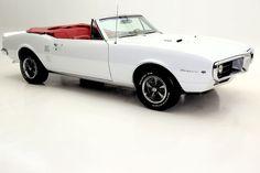 1967 Pontiac Firebird WHITE, RED INT, CONVERTIBLE