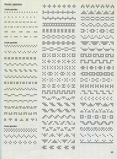 Alice Starmore Book of Fair Isle Knitting — Яндекс. Cross Stitch Boarders, Cross Stitch Designs, Cross Stitching, Cross Stitch Embroidery, Cross Stitch Patterns, Paper Embroidery, Embroidery Patterns, Fair Isle Knitting Patterns, Knitting Charts