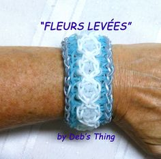 "Rainbow Loom Bracelet Tutorial - Original Design - ""FLEURS LEVÉES"" by  Deb's Thing"
