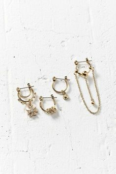 Sabo Luxe X Luv Aj Heli Hoop Earring Set - Urban Outfitters
