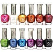 KLEANCOLOR Gel Effect Nail Polish Lacquer Full Size METALLIC Colors-12pc Set