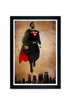 Superman Movie Poster man of steel 12x18 poster by SPACEBARdesigns, $17.00