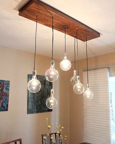 #DIY rustic modern design chandelier