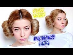 STAR WARS : LAST MINUTE HALLOWEEN LOOK PRINCESS LEIA HAIR BUNS HAIRSTYLE...