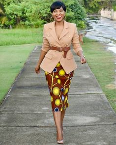 ankara styles and jackets for office wear, how to rock ankara styles with jackets to work