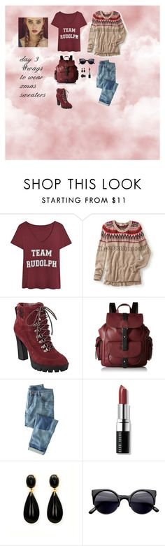 """""""day 3 #ways to wear xmas sweaters"""" by pandaprincess19 ❤ liked on Polyvore featuring maurices, Nine West, Kenneth Cole Reaction, Wrap, Bobbi Brown Cosmetics and Gucci"""