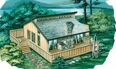 Eplans Shed House Plan - Leisure Home With Lots Of Extras - 936 Square Feet and 2 Bedrooms from Eplans - House Plan Code HWEPL06019