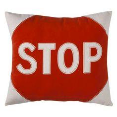 Circo Around Town Decorative Pillow, STOP & Detour options, $16.99 ea