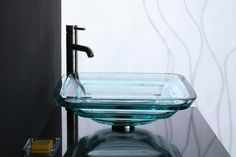 Tiered Round Glass Vessel Sink In Clear