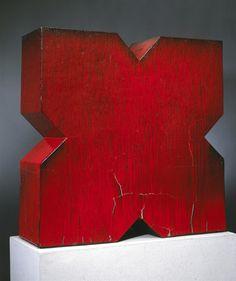 red - sculpture - John Mason