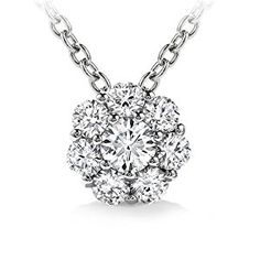 1.00 ct Ladies Round Cut Diamond Pendant / Necklace in 14 kt White Gold  http://electmejewellery.com/jewelry/necklaces/y-necklaces/100-ct-ladies-round-cut-diamond-pendant-necklace-in-14-kt-white-gold-com/