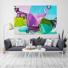 Attitude. Geometrical Abstract Art Wall Decor Extra Large