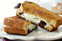 Roasted Cherry and Grilled Goat Cheese Sandwich