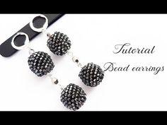#МК - Серьги из бисера | Оплетение бусины 10мм бисером | Beaded earrings - YouTube