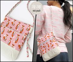 Zip Zap Mini Pouch with Side Loop Straps   Sew4Home
