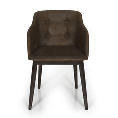 Chaise de séjour capitonnée marron vieilli Chocolat - Cork - Chaises - Tables et chaises - Salon et salle à manger - Décoration d'intérieur - Alinéa