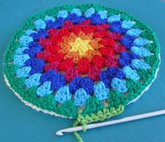 Free Crochet Pattern: Granny Mandala Potholders by Alice Best of Crochet With Raymond