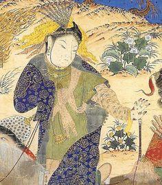 detail Bridal procession at night, late c Tabriz,Hazine, 2153 manuscript, fol. Art Costume, Mehendi, Writing Inspiration, Folklore, Traditional Art, Iran, Mythology, Persian, Henna
