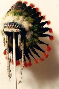 beaded war bonnet This shows great talent.of American Indians..