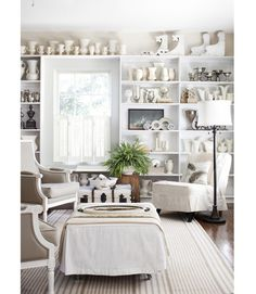 Shelving like this would be so pretty in my dining room.