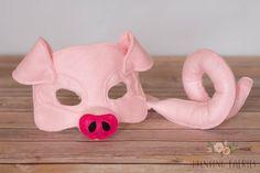 Apple la máscara de cerdo rosado y cola para por HuntingFaeries