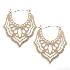 Stitch Fix: Ambrose Filigree Earrings. Not sure how big these are but I like them a lot! (Bigger is better)