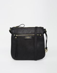 "Bag by Fiorelli Leather-look fabric Zipped front pocket Zip top Shoulder strap Zipped inner pocket Wipe clean 100% Polyurethane H: 24cm/9.7"" W: 25cm/10"" D: 2.5cm/1"""
