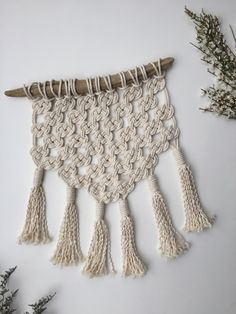 A personal favorite from my Etsy shop https://www.etsy.com/ca-fr/listing/270422645/andy-macrame-mural-tissage-moderne