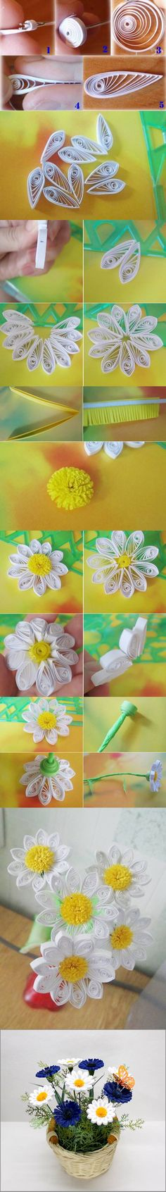 How to DIY Beautiful Quilling Chrysanthemum Decoration #craft #quilling
